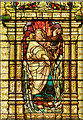 SJ8398 : St Ann's Church, Moses Window by David Dixon