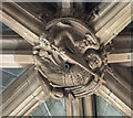 SE9364 : Roof boss, St Mary's church, Sledmere by Julian P Guffogg