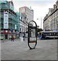 ST3188 : JCDecaux advertising site in Newport city centre by Jaggery