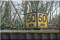 TQ9243 : Distance indicator, Pluckley Station by N Chadwick
