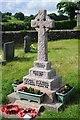 SJ0502 : Llanllugan war memorial by Philip Halling