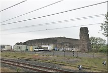 NT9953 : Ruins of Berwick Castle adjacent to railway station by Jonathan Hutchins