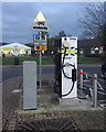 ST1920 : Electric vehicle recharging point, M5 southbound Taunton Deane services by Robin Stott