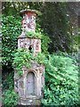 TG2208 : The Plantation Garden - Cosseyware on a folly by Evelyn Simak
