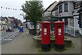 SU2908 : Postboxes on High Street, Lyndhurst by Robin Drayton