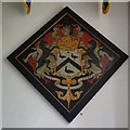 SO8035 : Hatchment in Birtsmorton church by Philip Halling