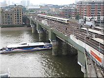TQ3280 : Cannon Street railway bridge and River Thames by David Hawgood