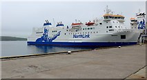 HU4642 : The MV Hrossey berthed at Lerwick by Gordon Brown