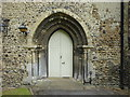 TR1459 : The west doorway of St Stephen's Church by Marathon