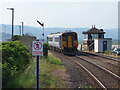 SD4678 : Arnside station - down train departing by Stephen Craven