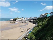 SN1300 : Tenby North Beach, harbour and Castle Hill by Antony Dixon