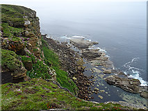 ND2076 : The Foot of the Cliffs by Anne Burgess