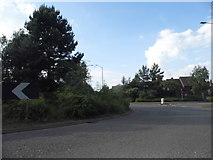 SP1954 : Roundabout on Seven Meadows Road, Stratford on Avon by David Howard