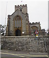 SY3492 : West side of the Parish Church of St Michael the Archangel, Lyme Regis by Jaggery
