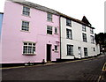 SY3492 : Pink house, 8 Monmouth Street, Lyme Regis  by Jaggery