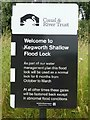 SK4927 : Kegworth Shallow Flood Lock by Alan Murray-Rust