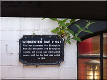 SP0686 : Worcester Bar Sign by Jeff Gogarty
