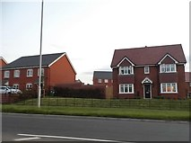 SP0369 : New houses on the A411, Redditch by David Howard