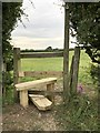 SJ8051 : Refurbished stile off Cross Lane by Jonathan Hutchins