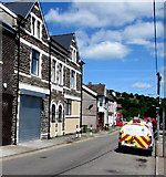 ST1599 : North along Church Place, Bargoed by Jaggery