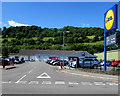 ST2390 : Lidl Risca on a bank of the Ebbw River by Jaggery