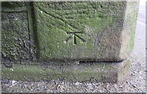 SE0523 : Benchmark on railway bridge at SW end of Town Hall Street by Roger Templeman