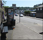 SX2553 : Bus & coach stop, Station Road, East Looe by Jaggery