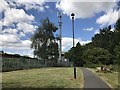 SJ8544 : Mobile mast in Lyme Valley Park by Jonathan Hutchins