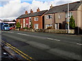 SJ3156 : Wrexham Road houses, Caergwrle, Flintshire by Jaggery
