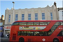 TQ3788 : London bus in front of Iceland by N Chadwick