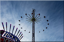 NZ2465 : Fairground attraction, Town Moor, Newcastle by Julian Osley