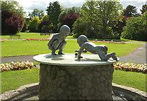 SE2955 : Cherub Fountain, Valley Gardens, Harrogate by Derek Harper