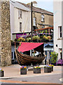 "S6112 : Longboat at Waterford's ""Viking Triangle"" by David Dixon"