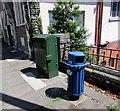 ST1599 : Unusual type of litter bin, Church Place, Bargoed by Jaggery