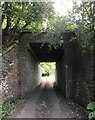SJ8151 : Bridge carrying former railway line over farm track by Jonathan Hutchins