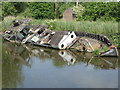 SJ5876 : River Weaver - wrecked ship by Chris Allen