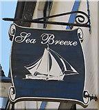 SX2553 : Sea Breeze name sign, Lower Chapel Street, East Looe by Jaggery