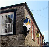 SX2553 : 18th century style depiction above Lower Chapel Street, East Looe by Jaggery