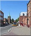 SK4641 : Ilkeston: bus stops on Wharncliffe Road by John Sutton