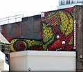 TG2308 : Dragon Mural on St Stephens Plain by Evelyn Simak