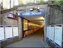 NS5567 : Underpass, Hyndland Station by Richard Sutcliffe