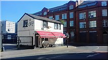 SJ8498 : Linda's Pantry on the last day of trading, Ducie Street, Manchester by Benjamin Shaw