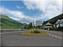 NN2904 : Road junction at Arrochar by Roger Cornfoot