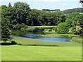SU8394 : The lake in West Wycombe Park by Steve Daniels