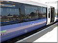 TQ2081 : Elizabeth Line rolling stock temporarily TfL rail by David Hawgood
