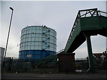 TQ0202 : Gas holder on Bridge Road, Littlehampton by David Howard