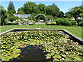 TQ9856 : Lily pond in a walled garden at Belmont House and Gardens by Marathon