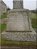 TG4919 : Names of the fallen on the Winterton war memorial 1 by Helen Steed