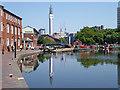 SP0686 : Canal at Farmer's Bridge Top Lock in Birmingham by Roger  Kidd