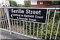 SE3321 : Saville Street sign by Adrian Cable